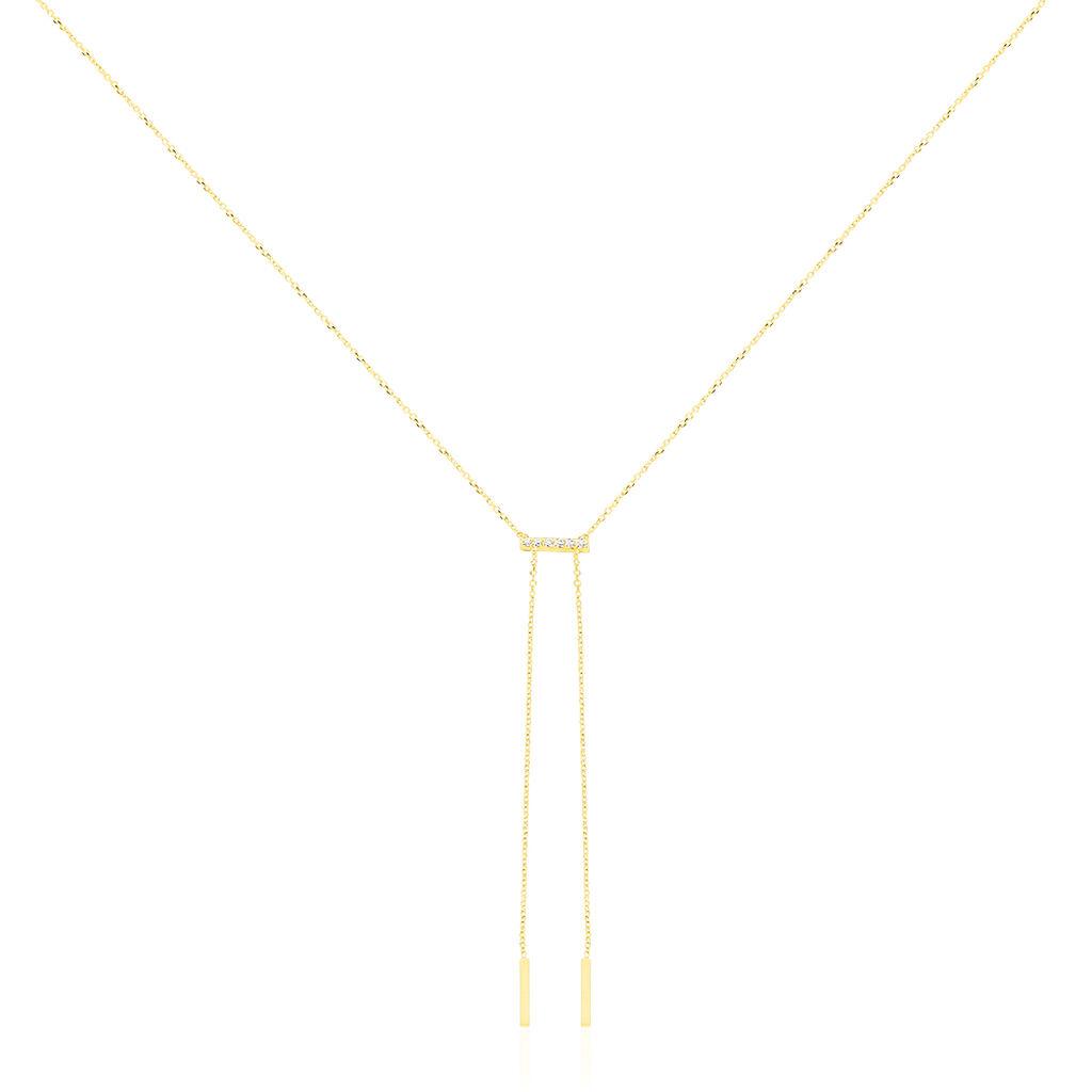 Collier Dael Or Jaune Oxyde De Zirconium - Bijoux Femme | Histoire d'Or