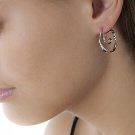 Créoles Neya Argent Blanc - Boucles d'oreilles créoles Femme | Histoire d'Or