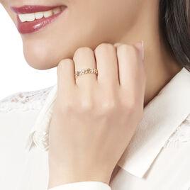 Bague Or Jaune Andressa Feuille Diamants - Bagues Plume Femme | Histoire d'Or