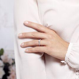 Bague Julia Platine Blanc Diamant - Bagues avec pierre Femme   Histoire d'Or