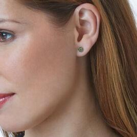 Boucles D'oreilles Puces Eryne Or Jaune - Clous d'oreilles Femme   Histoire d'Or