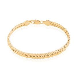 Bracelet Messaline Maille Anglaise Plaque Or Jaune - Bracelets chaîne Femme | Histoire d'Or