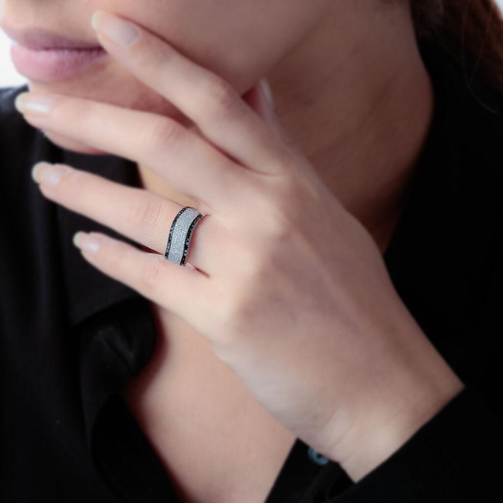Bague Pacifique Or Blanc Diamant - Bagues avec pierre Femme | Histoire d'Or