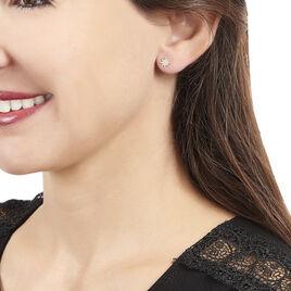 Boucles D'oreilles Pendantes Xaviere Or Jaune Oxyde De Zirconium - Boucles d'Oreilles Etoile Femme   Histoire d'Or