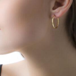 Créoles Valencina Flexibles Rondes Or Jaune - Boucles d'oreilles créoles Femme   Histoire d'Or