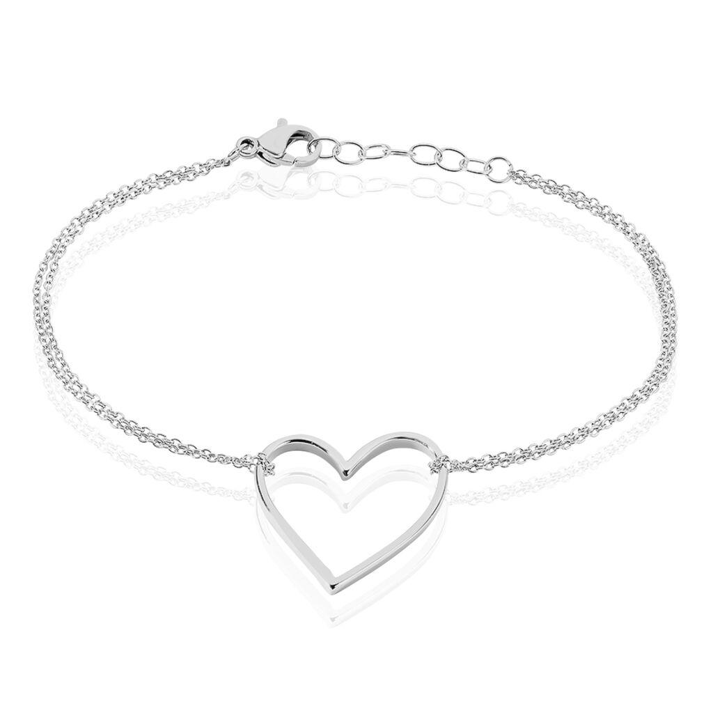 Bracelet Lighty Acier Blanc - Bracelets Coeur Femme | Histoire d'Or