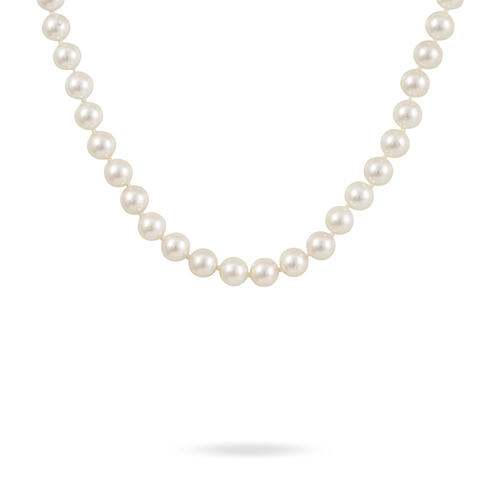 Collier Akoya Or Jaune Perle De Culture D'akoya - Bijoux Femme | Histoire d'Or