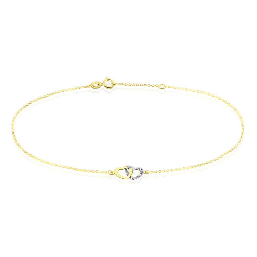 Chaîne De Cheville Natala Or Bicolore - Bijoux Coeur Femme | Histoire d'Or