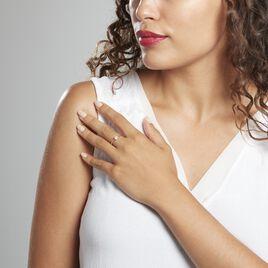 Solitaire Abriel Or Blanc Oxyde De Zirconium - Bagues solitaires Femme   Histoire d'Or