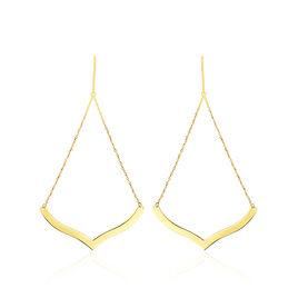 Boucles D'oreilles Pendantes Solaire Or Jaune - Boucles d'oreilles pendantes Femme | Histoire d'Or