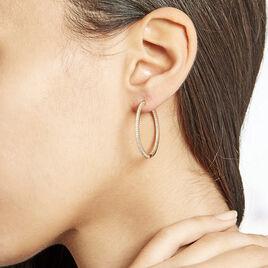 Creoles Plaque Or Karolina Oxydes - Boucles d'oreilles créoles Femme | Histoire d'Or