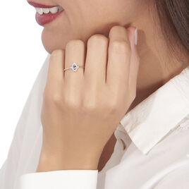 Bague Alysha Or Blanc Topaze Et Oxyde De Zirconium - Bagues avec pierre Femme | Histoire d'Or