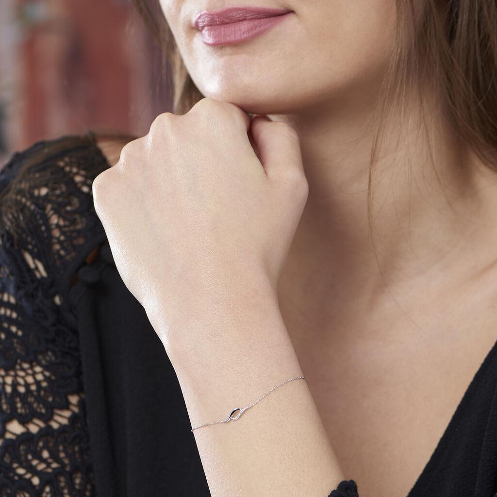 Bracelet Tylane Or Blanc Diamant - Bijoux Femme   Histoire d'Or