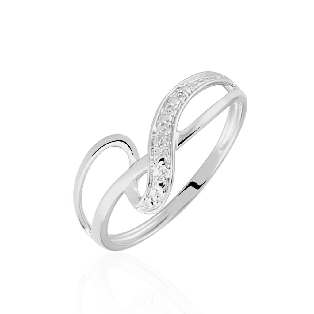 Bague Emma-lise Or Blanc Diamant