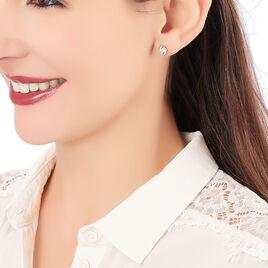 Boucles D'oreilles Puces Couteau Argent Blanc Oxyde De Zirconium - Boucles d'oreilles fantaisie Femme   Histoire d'Or