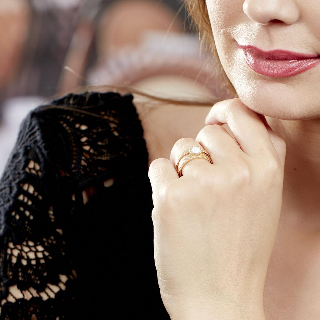 Bague Cary Plaque Or Jaune Verre - Bagues avec pierre Femme | Histoire d'Or