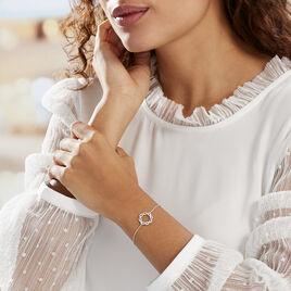Bracelet Calandra Argent Blanc Oxyde De Zirconium - Bracelets fantaisie Femme   Histoire d'Or