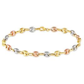 Bracelet Dami Maille Grain De Cafe Or Tricolore - Bracelets chaîne Homme | Histoire d'Or