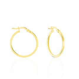 Créoles Telya Lisses Fil Carre Or Jaune - Boucles d'oreilles créoles Femme | Histoire d'Or