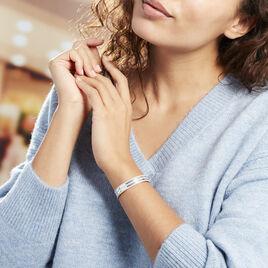 Bracelet Jonc Ayo Argent Blanc - Bracelets joncs Femme | Histoire d'Or