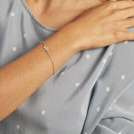 Bracelet Jengen Argent Rhodie Oxydes De Zirconium - Bracelets fantaisie Femme   Histoire d'Or