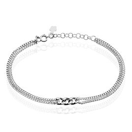 Bracelet Emilia Argent Blanc - Bracelets fantaisie Femme   Histoire d'Or