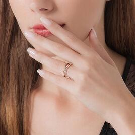 Bague Or Rose Diamant - Bagues avec pierre Femme | Histoire d'Or