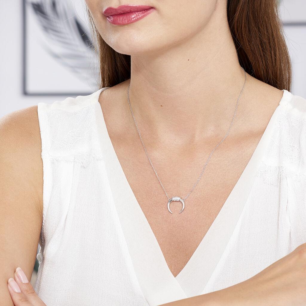 Collier Corneliana Argent Blanc Oxyde De Zirconium - Colliers fantaisie Femme | Histoire d'Or