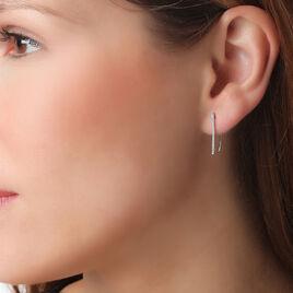 Boucles D'oreilles Or Blanc - Ear cuffs Femme   Histoire d'Or