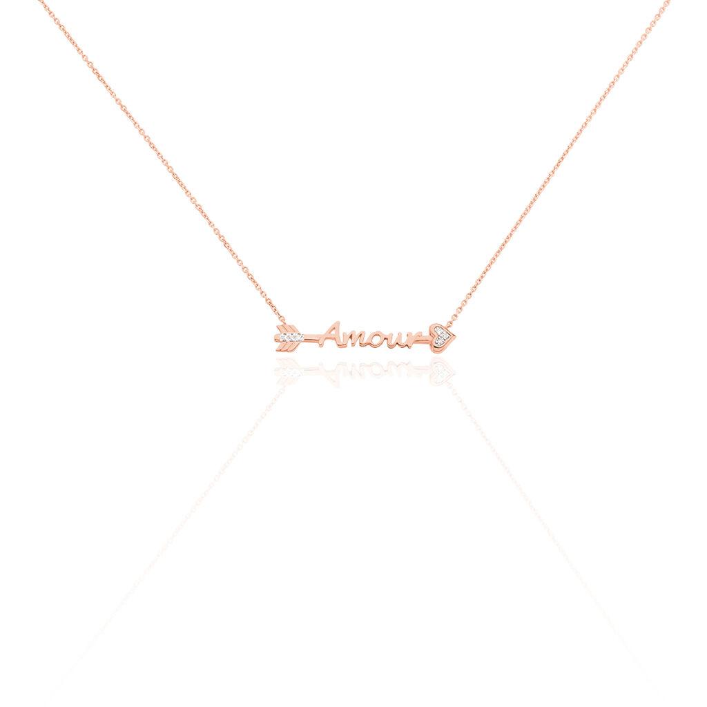 Collier Amour Or Rose Diamant - Bijoux Femme | Histoire d'Or
