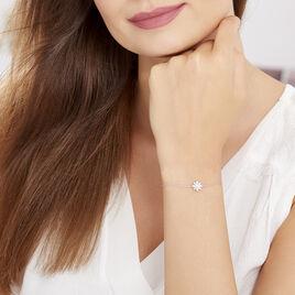 Bracelet Lorraine Argent Blanc Oxyde De Zirconium - Bracelets fantaisie Femme   Histoire d'Or