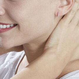 Boucles D'oreilles Puces Amene Or Blanc Diamant - Clous d'oreilles Femme | Histoire d'Or