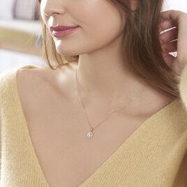 Collier Emyla Or Rose Oxyde De Zirconium - Bijoux Femme   Histoire d'Or