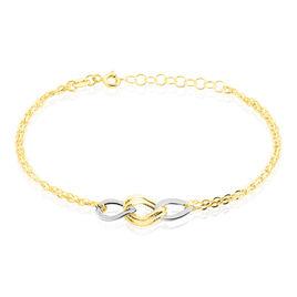 Bracelet Or Bicolore Louisa Maillons Dont Un Facette - Bijoux Femme | Histoire d'Or