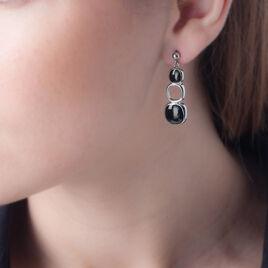 Boucles D'oreilles Pendantes Hatayi Acier Blanc - Boucles d'oreilles fantaisie Femme | Histoire d'Or