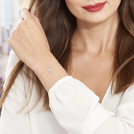 Bracelet Loona Argent Blanc - Bracelets fantaisie Femme   Histoire d'Or