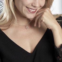 Collier Galloise Argent Blanc - Colliers Coeur Femme   Histoire d'Or