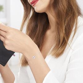Bracelet Symbolique Argent Blanc Oxyde De Zirconium - Bracelets fantaisie Femme | Histoire d'Or