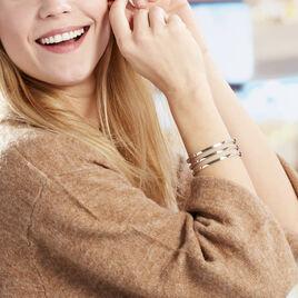 Bracelet Jonc Adel Acier Blanc - Bracelets fantaisie Femme   Histoire d'Or