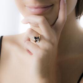 Bague Dahlia Or Jaune Saphir Diamant - Bagues avec pierre Femme   Histoire d'Or