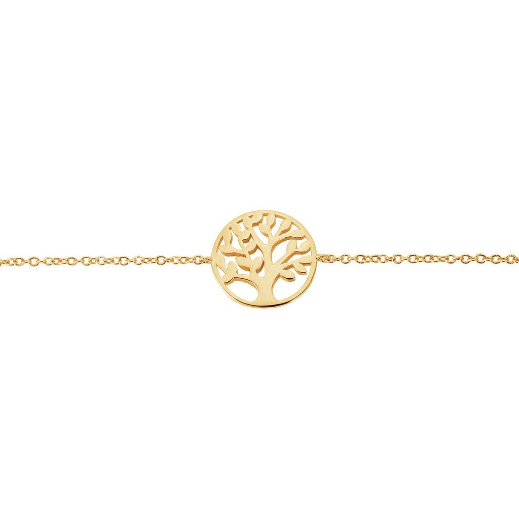 Bracelet Laora Plaque Or Jaune - Bracelets Arbre de vie Femme | Histoire d'Or