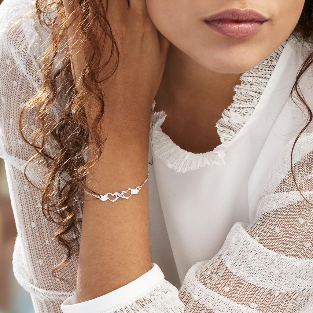Bracelet Vanilla Argent Blanc - Bracelets Coeur Femme | Histoire d'Or