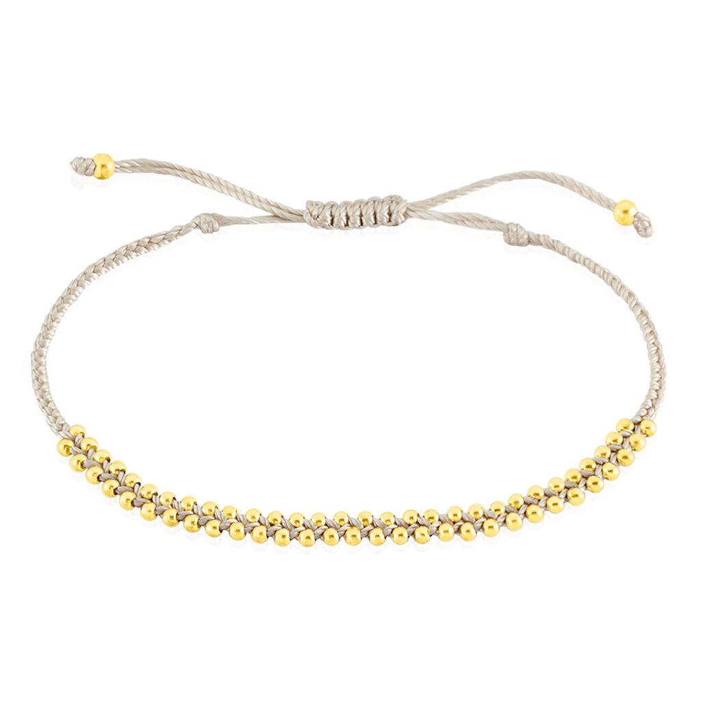Bracelet Argent Blanc - Bracelets cordon Femme   Histoire d'Or