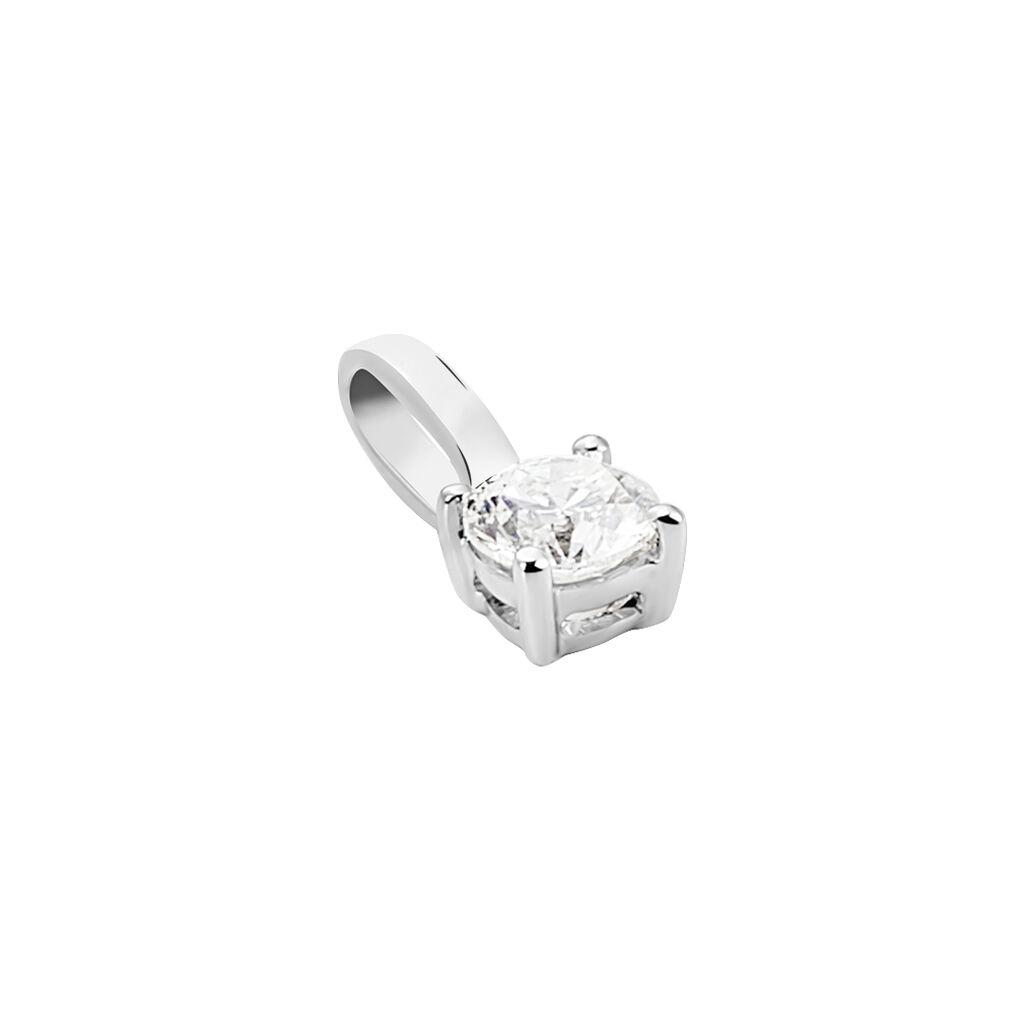 Pendentif Mylene Or Blanc Diamant - Pendentifs Femme | Histoire d'Or