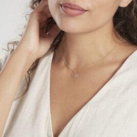 Pendentif Eudocie Coeurs Ciseles Or Bicolore - Pendentifs Coeur Femme   Histoire d'Or