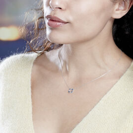 Collier Arlina Or Blanc Saphir Et Diamant - Bijoux Femme | Histoire d'Or