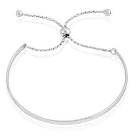 Bracelet Jonc Jocelyne Argent Blanc - Bracelets fantaisie Femme   Histoire d'Or