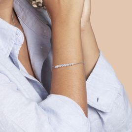 Bracelet Gilleberte Argent Rhodié Oxyde - Bracelets fantaisie Femme   Histoire d'Or