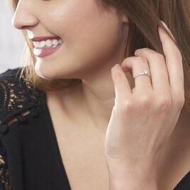 Bague Harem Or Blanc Oxyde De Zirconium - Bagues solitaires Femme | Histoire d'Or