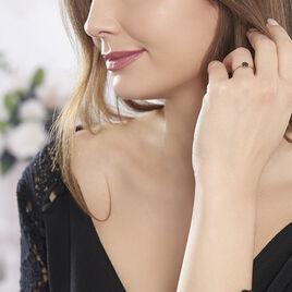 Bague Colline Argent Rose Oxyde De Zirconium - Bagues avec pierre Femme | Histoire d'Or
